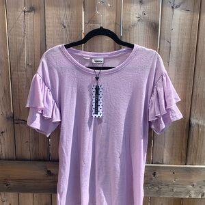 NWT Noisy May Lilac Ruffle Sleeve T-Shirt